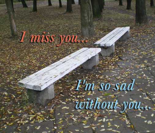 Say how much you miss someone dear with this romantic card