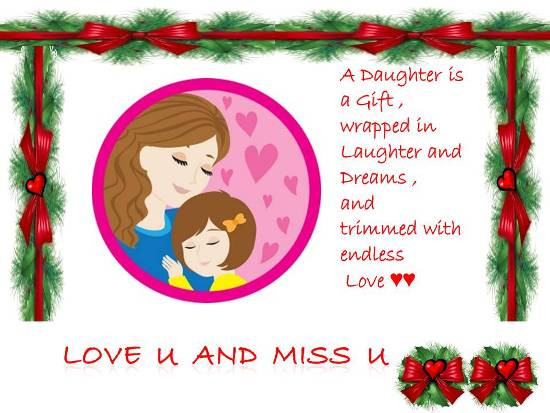 Missing Your Beloved Daughter Free Miss You ECards Greeting Cards