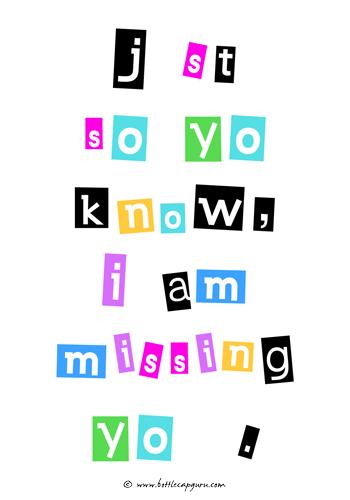 """I Am Missing """"U""""!"""