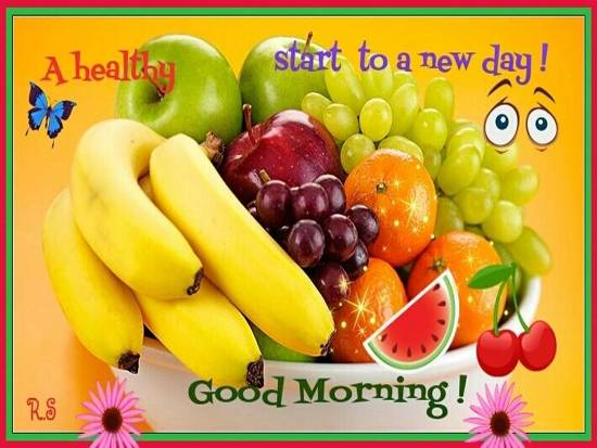 Wishing A Healthy Start To Your Day. Free Good Morning
