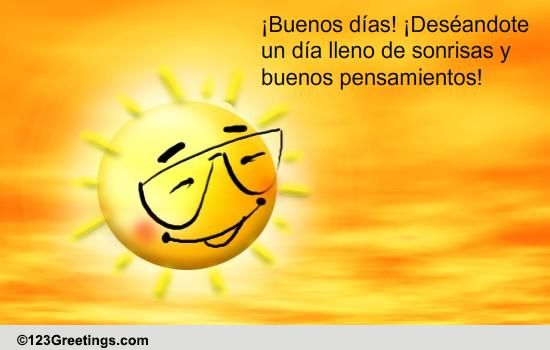 Good Morning In Spanish Is What : A spanish good morning card free ecards