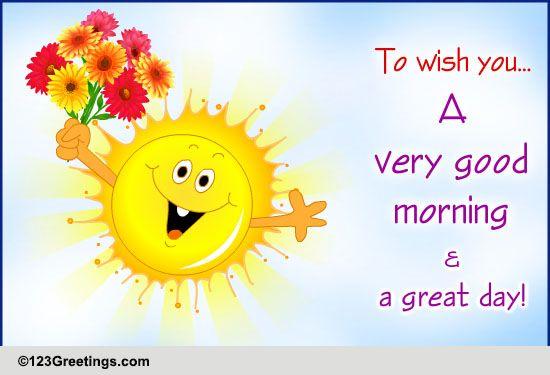 Good Morning Japanese Greeting : Wish a great morning free good ecards greeting