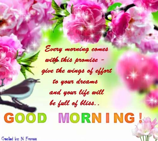 Your Life Will Be Full Of Bliss.... Free Good Morning