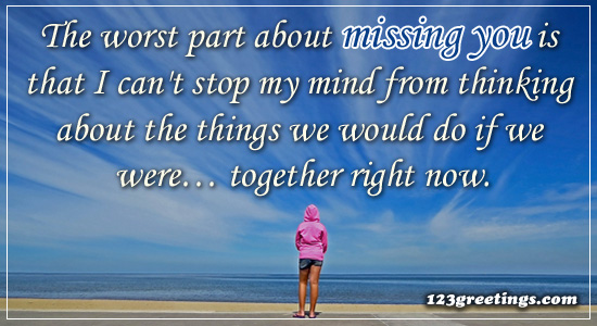 Worst Part Of Missing You.