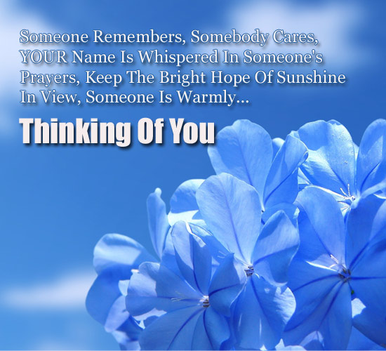Somebody cares free thinking of you ecards greeting cards 123 somebody cares m4hsunfo