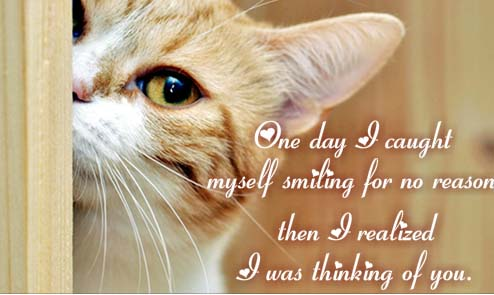 Thinking About You, Makes Me Smile! Free Thinking of You