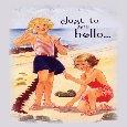 Vintage Girls On Beach To Say Hello!