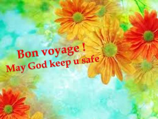 your heartfelt wish for a safe and happy journey to your dear onesHave A Safe Journey With Flowers