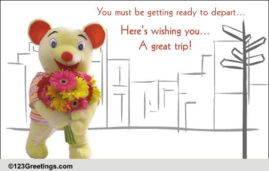 Wish You A Great Trip! Free Bon Voyage eCards, Greeting ...