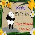 Panda Loves The Weekend!