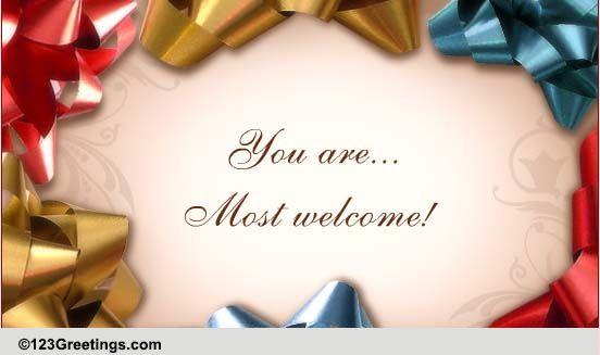 You Welcome Auf Deutsch