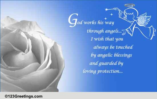 Angelic Blessings Free Angel Ecards Greeting Cards 123 Greetings
