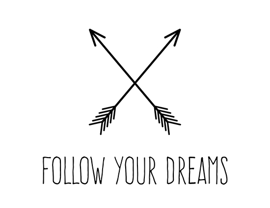 Trendy Arrows Follow Your Dreams Free Encouragement Ecards 123 Greetings
