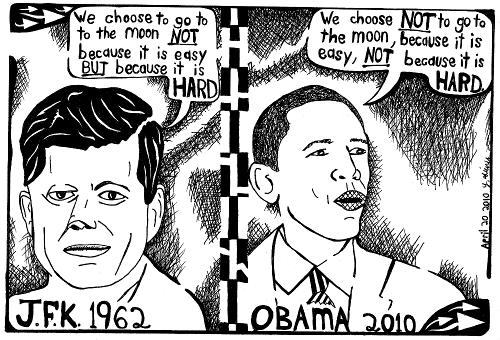 J.F.K Vs. Obama Nasa.