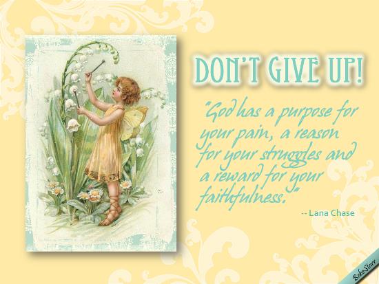 Reward For Your Faithfulness.