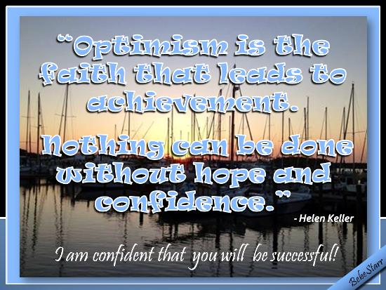 Confident Of Success.