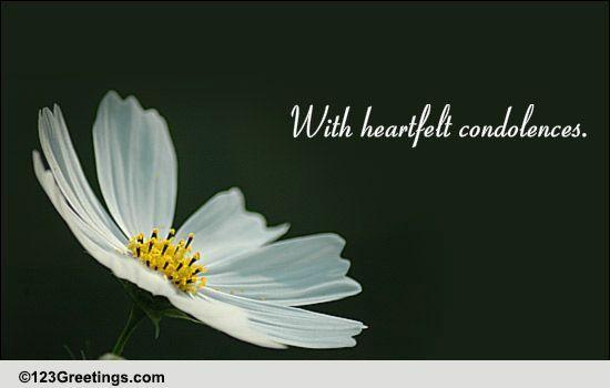 heartfelt condolences free sympathy condolences ecards 123