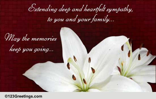Deep Heartfelt Sympathy Free Sympathy Condolences eCards – Sympathy Message
