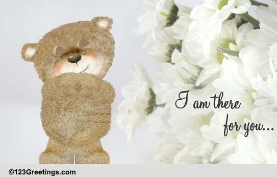 Inspirational Teddy Hugs! Free Sympathy & Condolences ... |Hug Messages Sympathy
