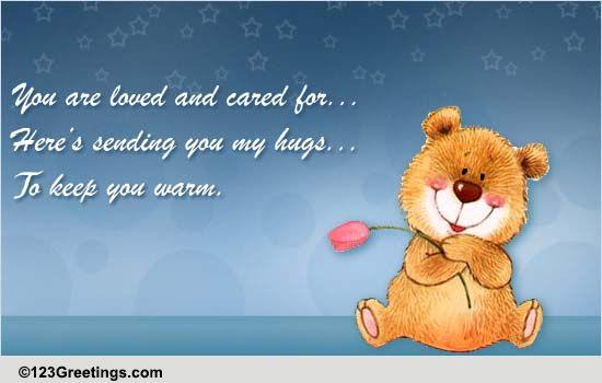 Sending you a hug / sympathy card grief card bereavement ... |Hug Messages Sympathy
