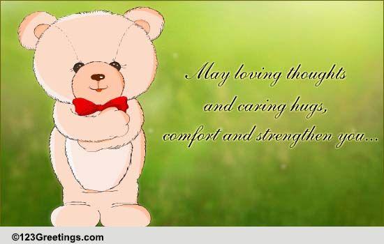 PRINTABLE sympathy card, sending you a huge hug, in ... |Hug Messages Sympathy