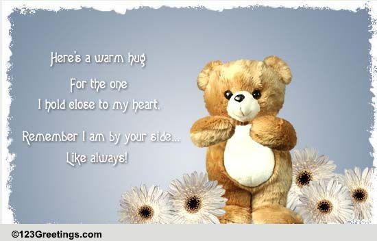 A Gentle Hug! Free Sympathy & Condolences eCards, Greeting ... |Hug Messages Sympathy