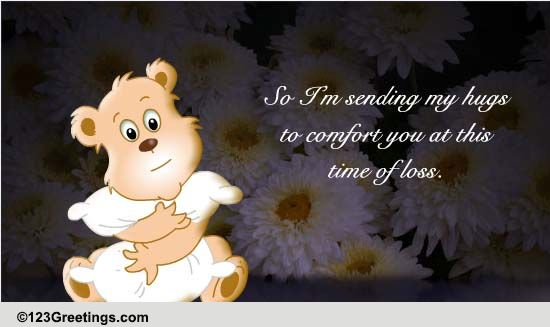 Sympathy Card Sending Love & Hugs Card by ... |Hug Messages Sympathy