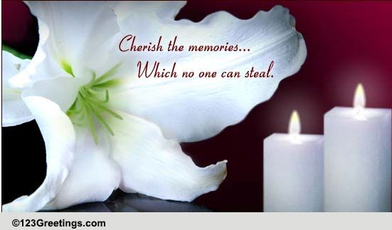 cherish the memories  free sympathy  u0026 condolences ecards