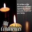 A Condolence Message Ecard.