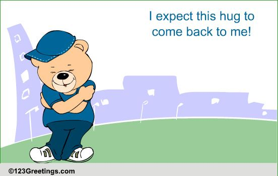 Send A Long Distance Hug! Free Just Because eCards ...