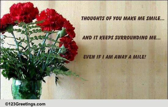 Your Thoughts Make Me Smile! Free Thinking of You eCards ...