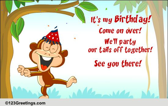 Invitations Cards Free Invitations eCards Greeting Cards – Invitation Card for Birthday