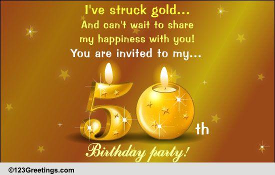 50th Birthday Celebration Free Birthday Party eCards Greeting – Greeting Cards for 50th Birthday