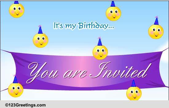 ecards for birthday invitation