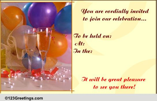 First Birthday Invitation Card Matter with nice invitation sample