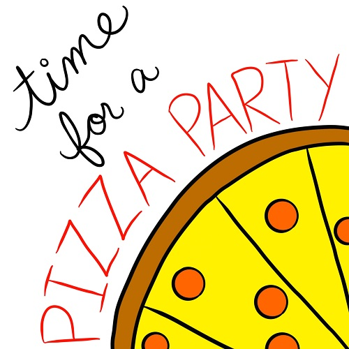 time for a pizza party  free party invitations ecards  greeting cards