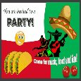 Invitation To A Party - Mexican Theme.