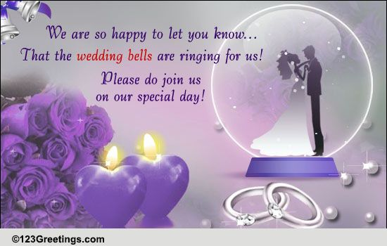 123 Wedding Invitations: Our Wedding Invitation! Free Wedding ECards, Greeting
