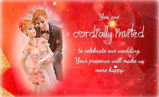 You Are Cordially Invited To The Wedding: You Are Cordially Invited... Free Wedding ECards, Greeting