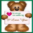 Cute Teddy Love Card.