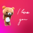 Home : Love : Cute Love Cards - Teddy Bear Dancing I Love You.