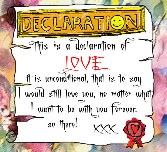Declaration Of Love.