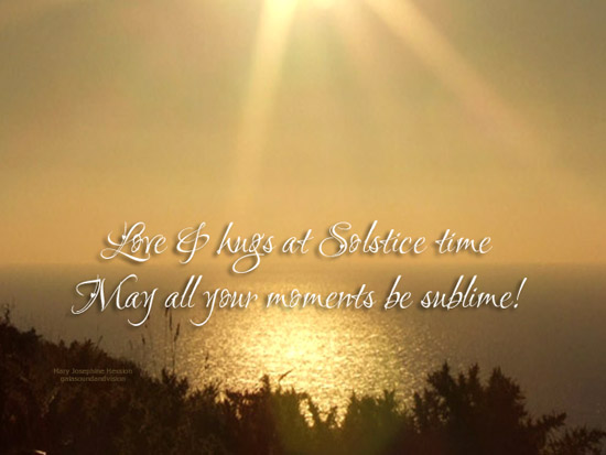 Love And Hugs At Solstice Time