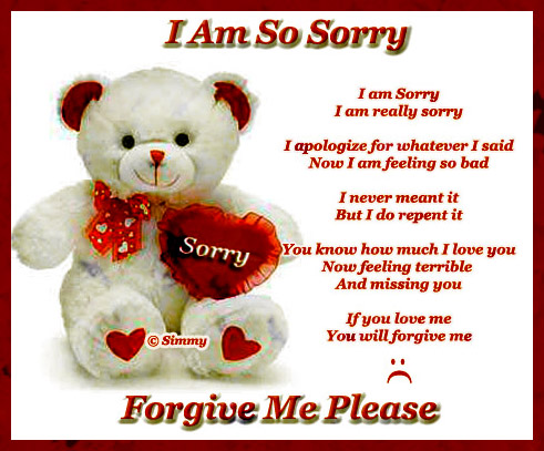 So Sorry...