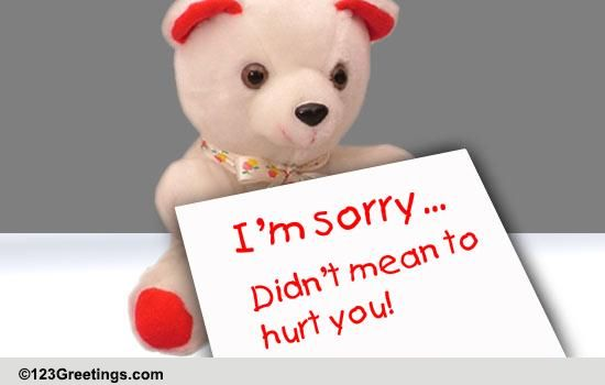 Im Sorry Free I Am Sorry eCards Greeting Cards – Apology Card Messages
