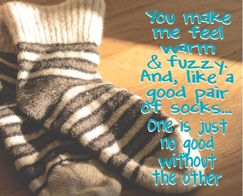 Warm Fuzzy Socks Free For Couples Ecards Greeting Cards