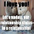 I Love U. Update Relationship Status.