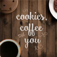 Coffee Cookie Card For Couples.