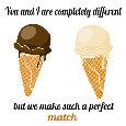 Vanilla And Chocolate Couple.