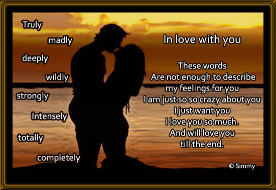 Love You Till The End Free Madly In Love Ecards Greeting Cards